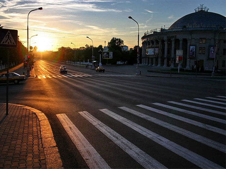 Sunrise in Minsk