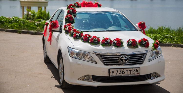 Украшение машины на свадьбу купить москва