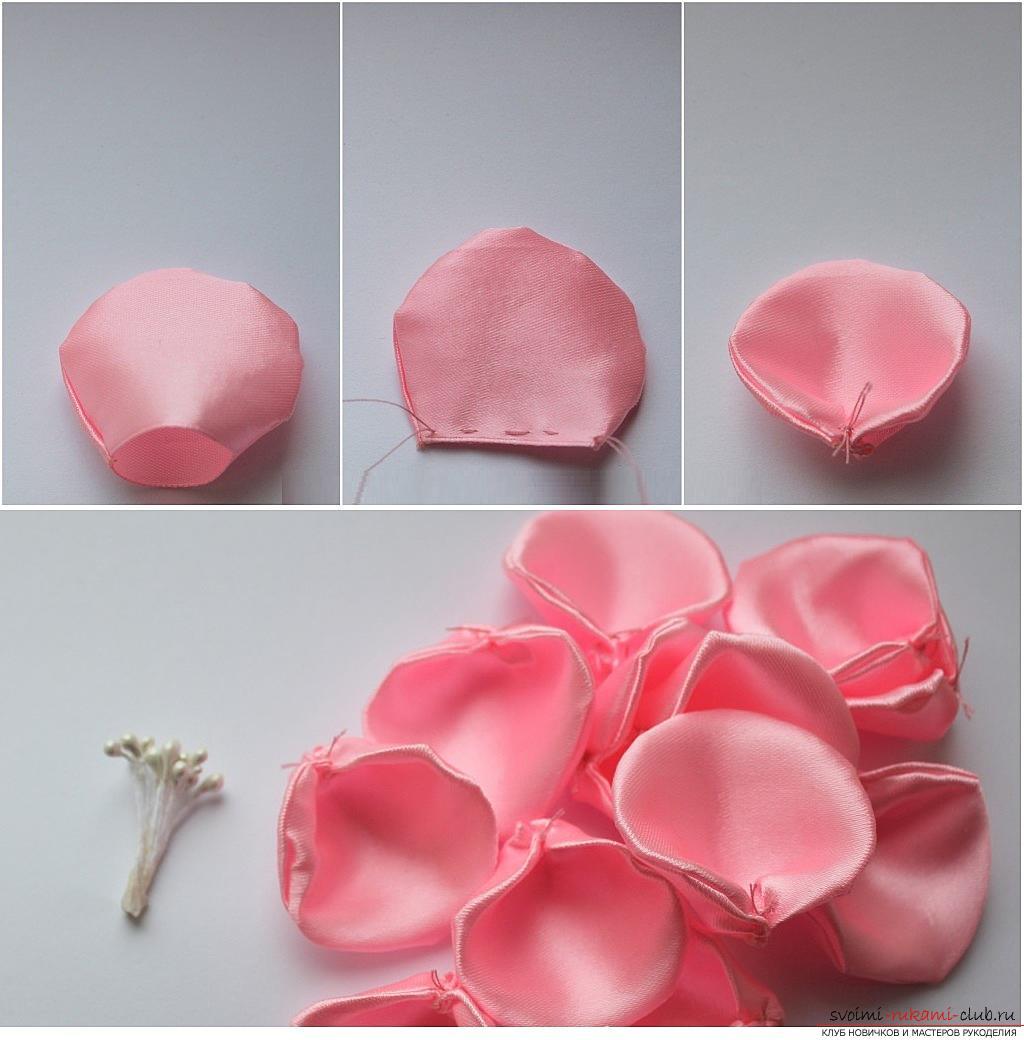 Как сделать розу из капрона фото 921